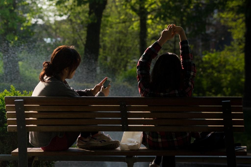 bench-chat-chatting-798
